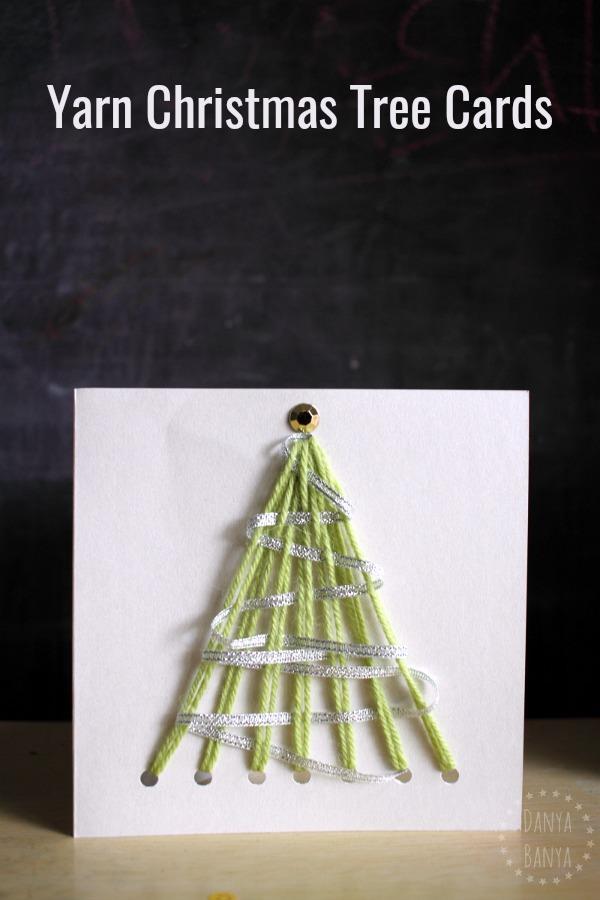 Sassy And Easy Yarn Christmas Tree Card