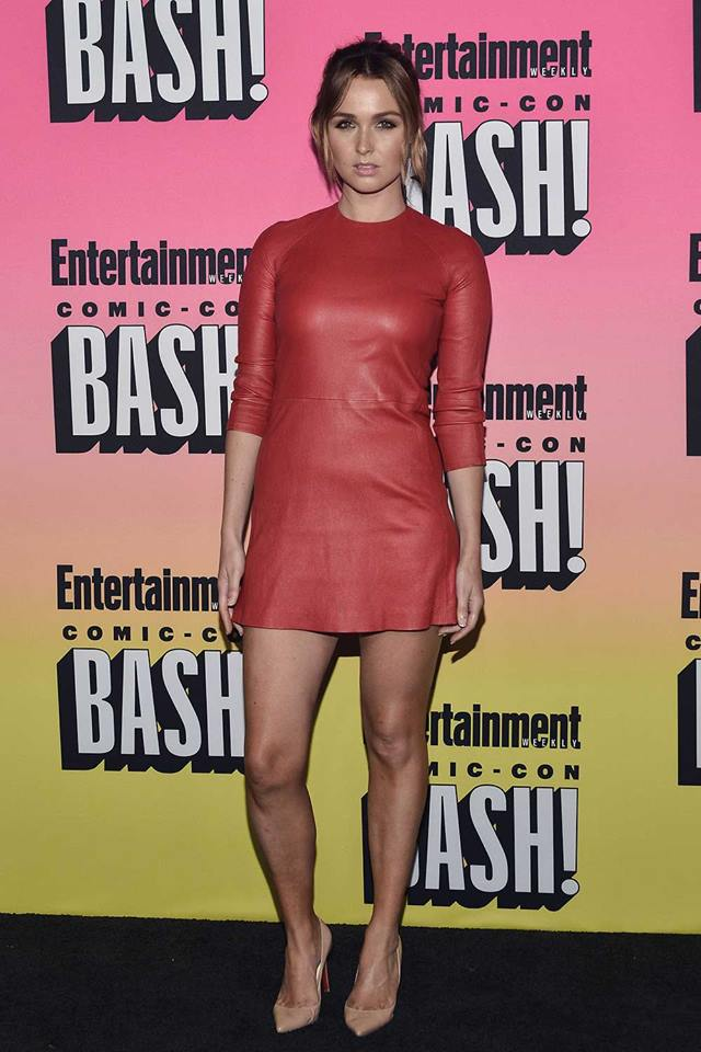 Short Red Leather Dress