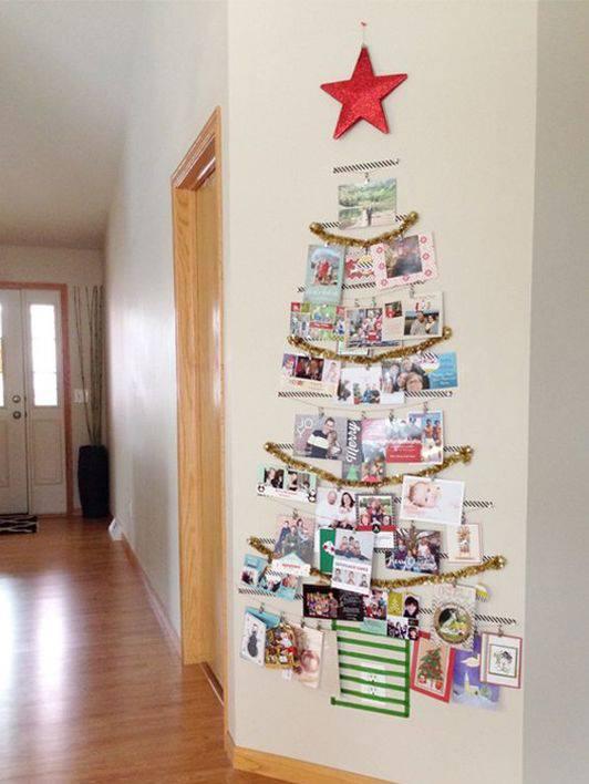 Simple Christmas Tree By Using Family Photos