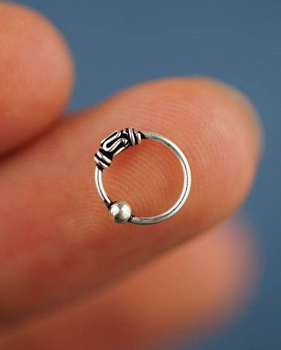 Simple Sterling Silver Nose Ring