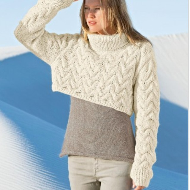 Swanky Short Cable Knit Thumb Hole Sweater