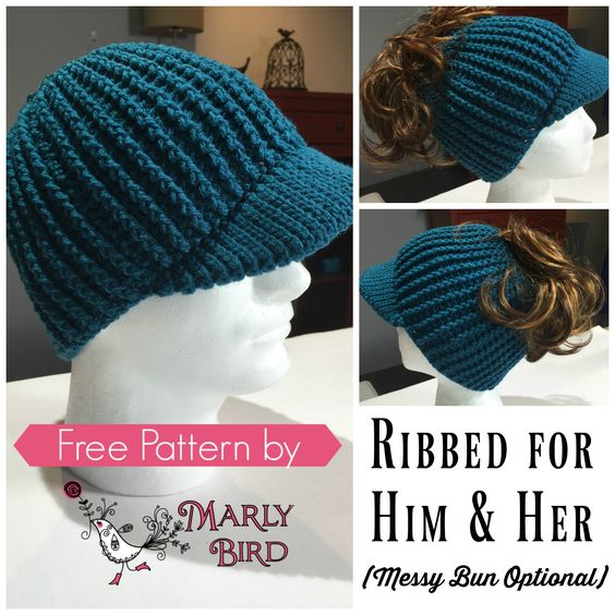 Teal Cap Design With Messy Bun Space