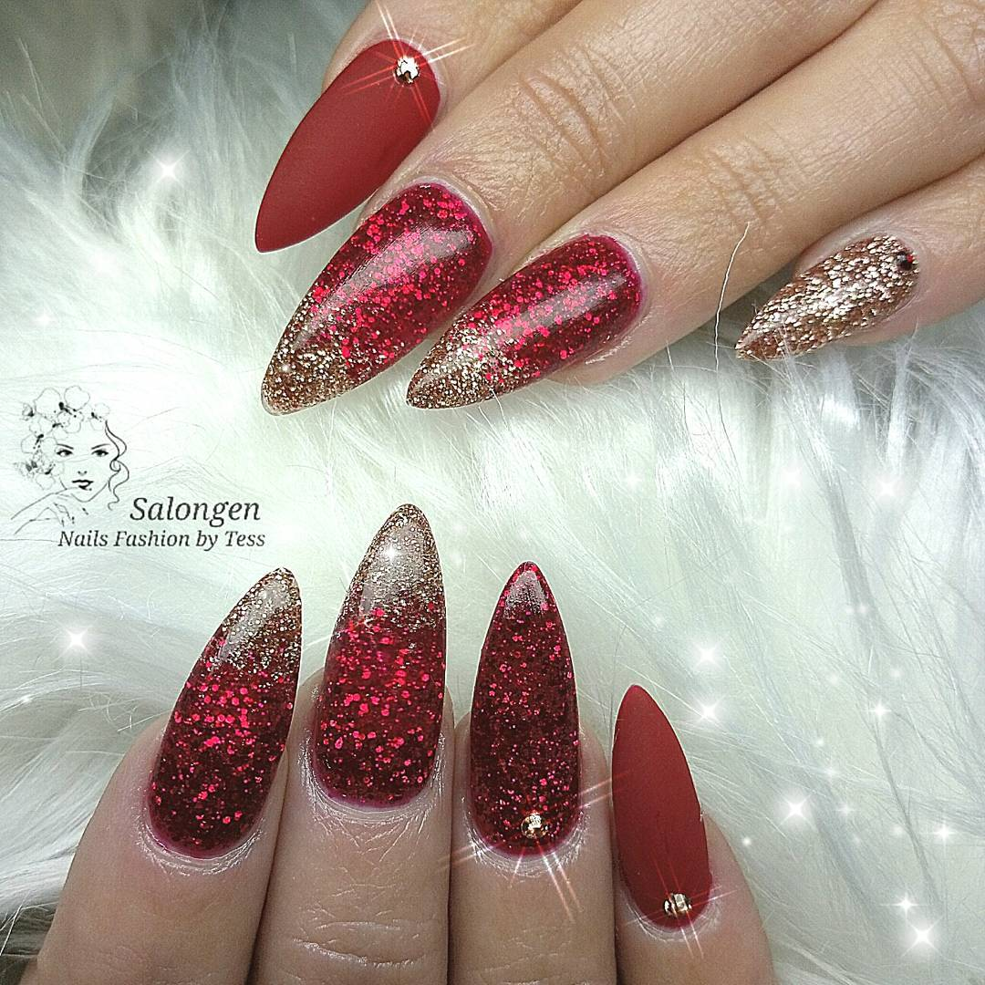 Trendy Colorful Sparkle Gel Nails