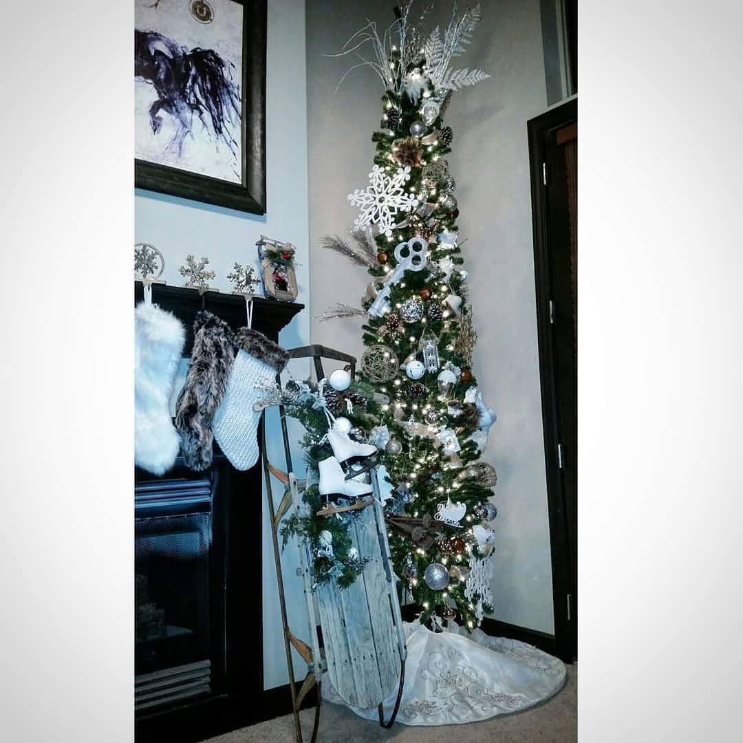 Silver Tabletop Christmas Tree