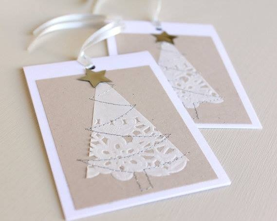 White Christmas Tree Card Design