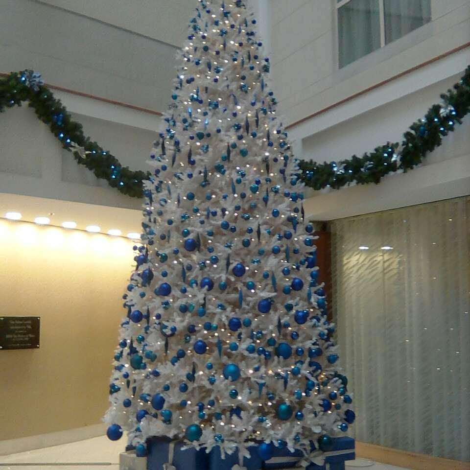 wonder white and blue christmas tree pic by sarahowena - White And Blue Christmas Tree