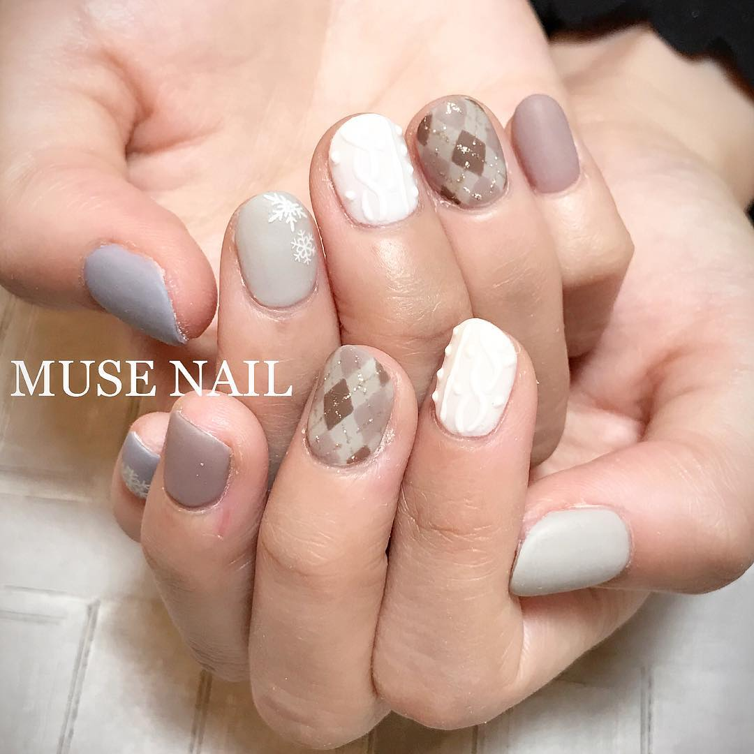 Wonderful Check Nails For Winters