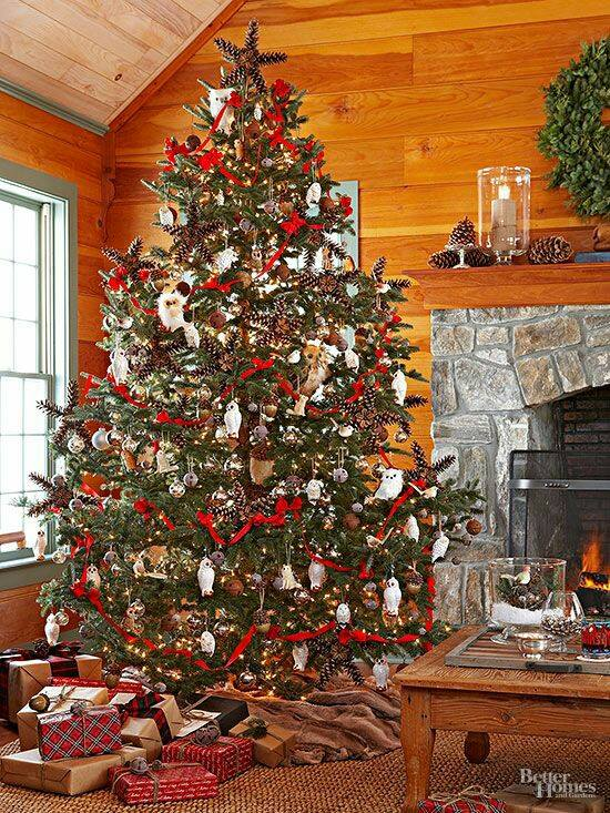 wonderful cozy touch rustic christmas tree decor
