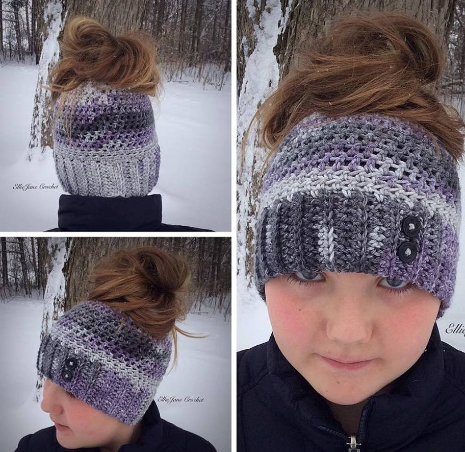 Wonderful Ponytail Or Messy Bun Cap Design
