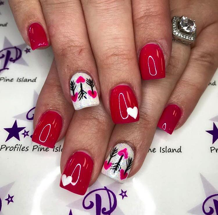 Wonderful Valentines Nail Art Design