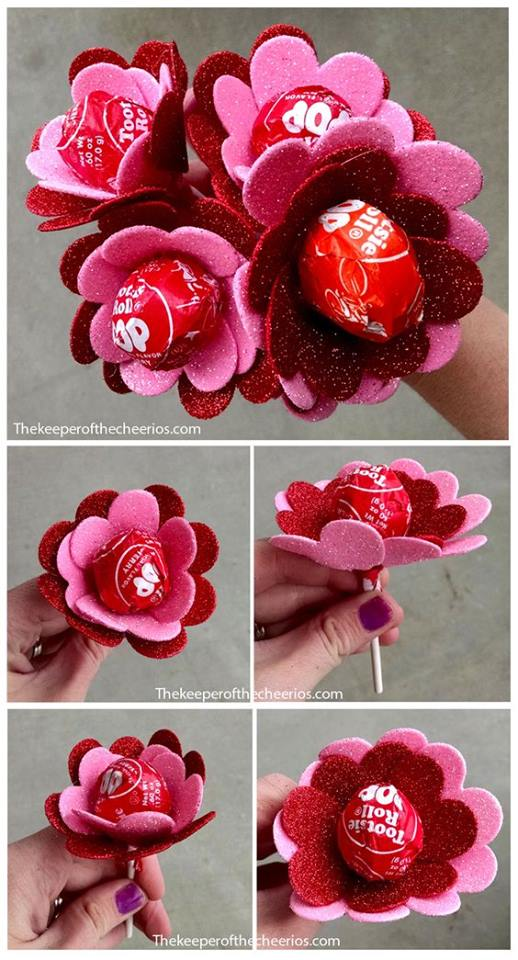 Adorable Lollipop Pink And Red Flowers