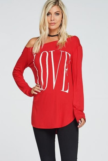 Adorable Off The Shoulder Red Top With Legging