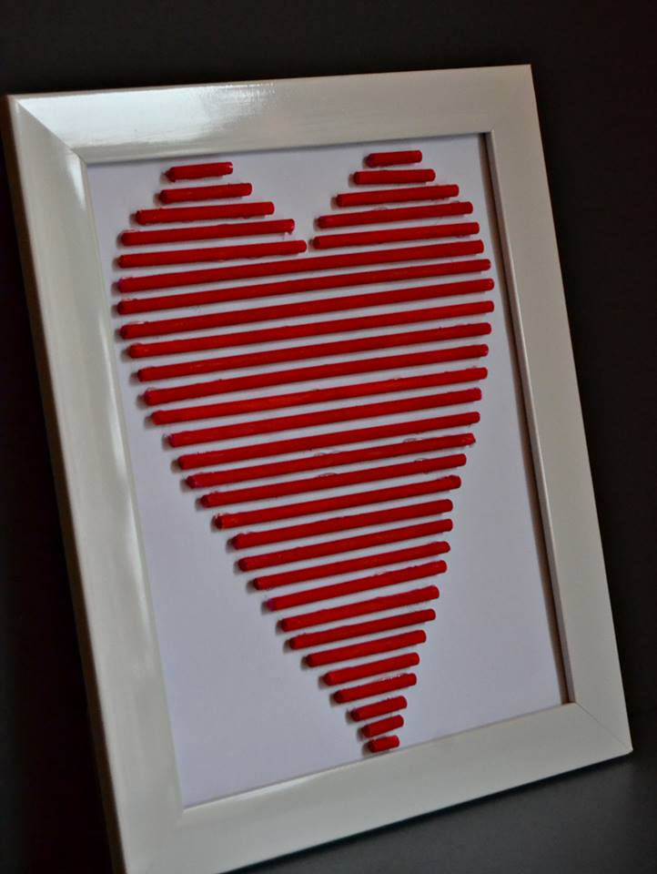 Awesome Heart Made From Straws