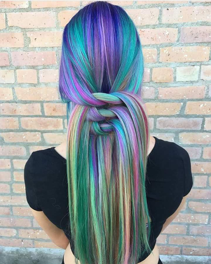 Colorful Knots Hairstyle In Straight Hairs