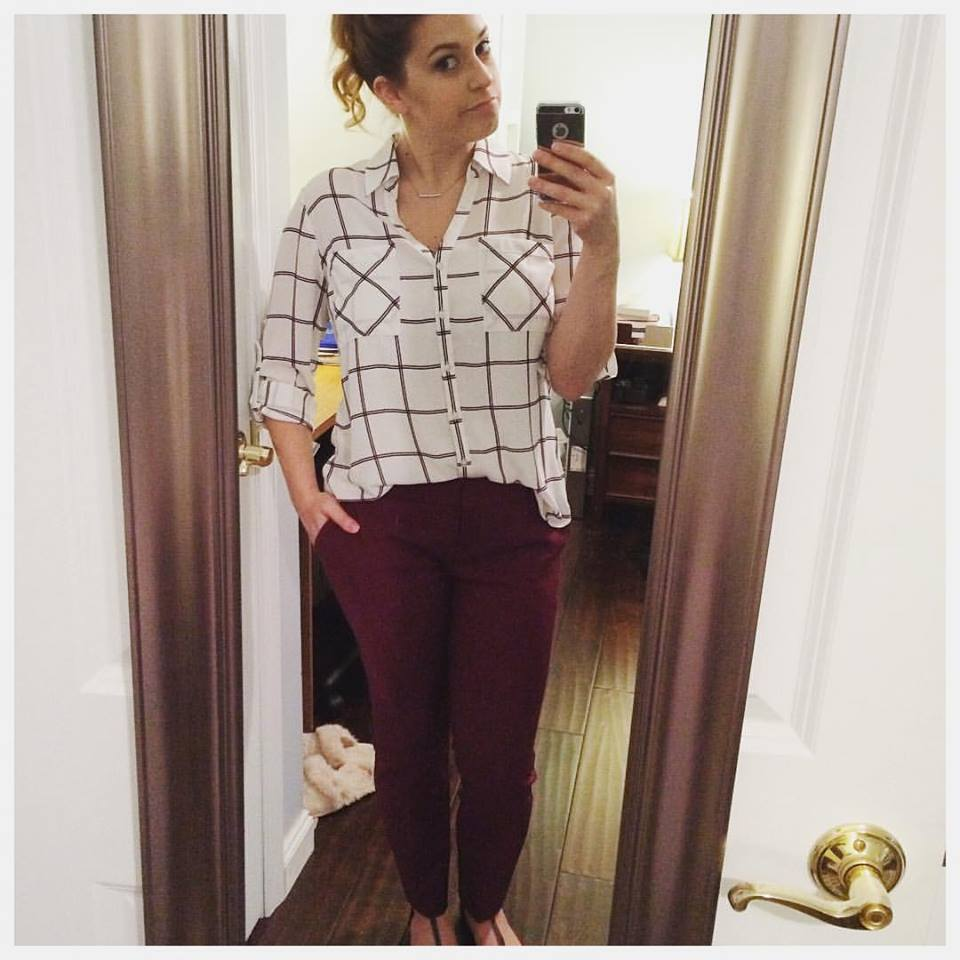Cool Check Shirt With Maroon Bottom