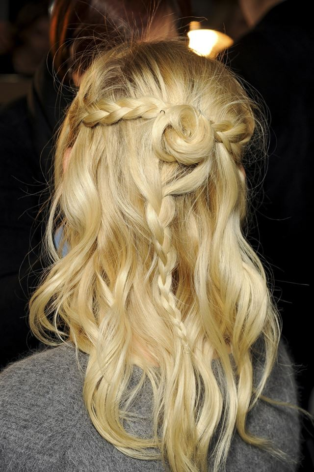 Creative Braid With Flower Hairstyle