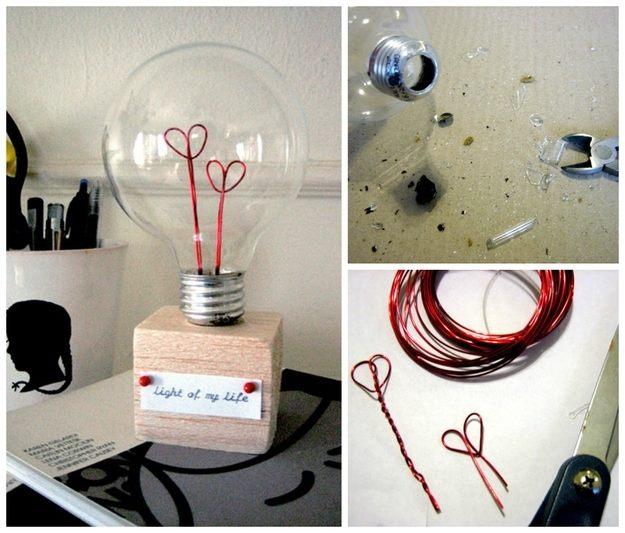 Creative Wire Heart In Bulb