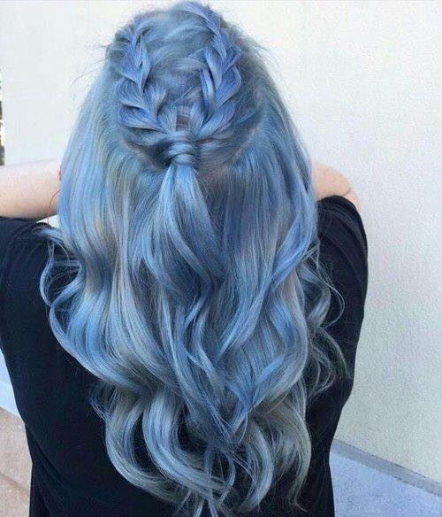 Dazzling Blue Hairs With Braid