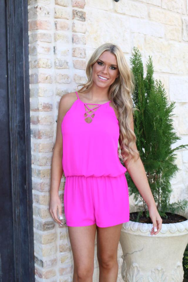 Exclusive Pink Romper For Romantic Day Out