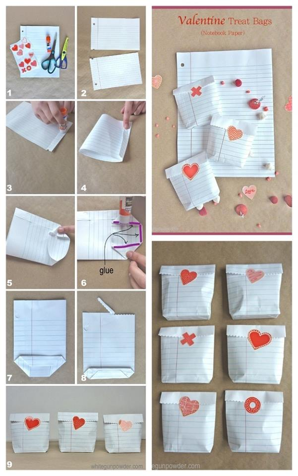 Fascinating DIY Valentine Treat Bags