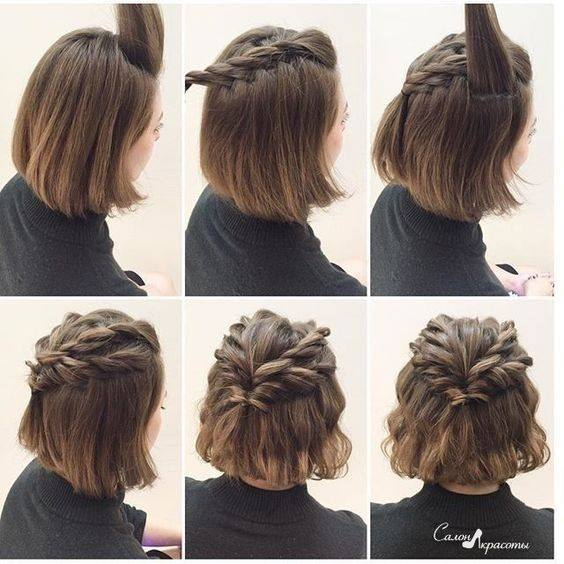 French Braided Hairstyle For Short Hairs