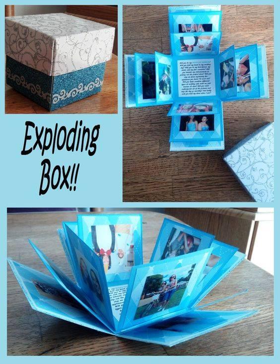 Glamorous DIY Exploding Box For Boyfriend