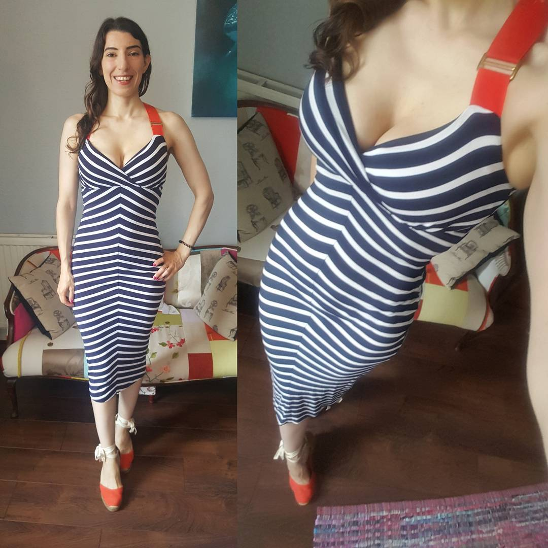 Glamorous Stripes Beach Party Dress