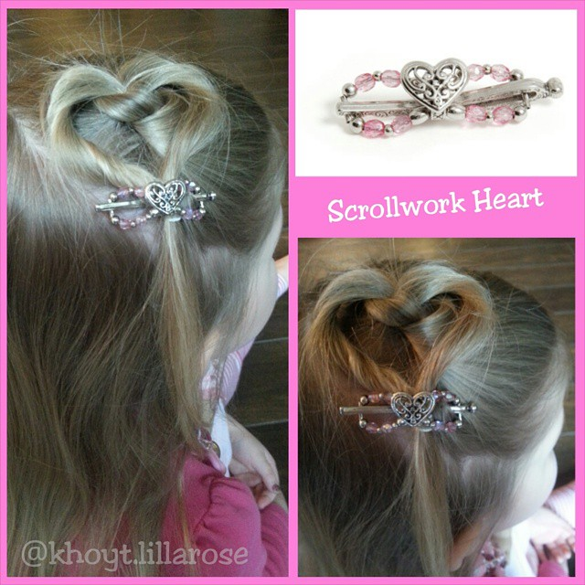 Glamorous Twisted Heart For Little Princesses