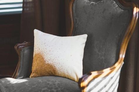Glittery DIY Pillow Cover