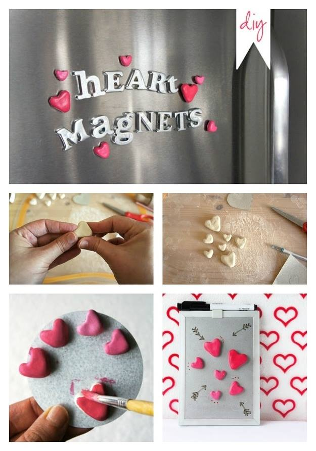 Handmade Heart Magnets
