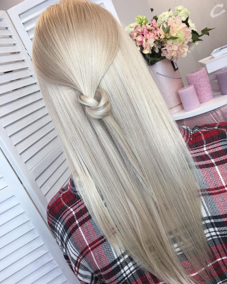 Knot In Beautiful Blonde Hairs