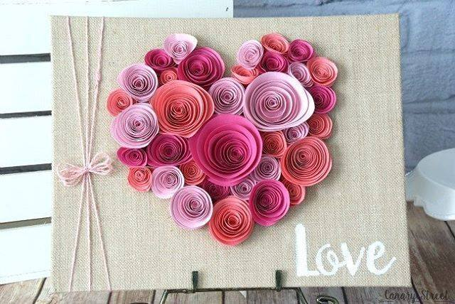Marvelous Paper Quiling Hearts On Envelope