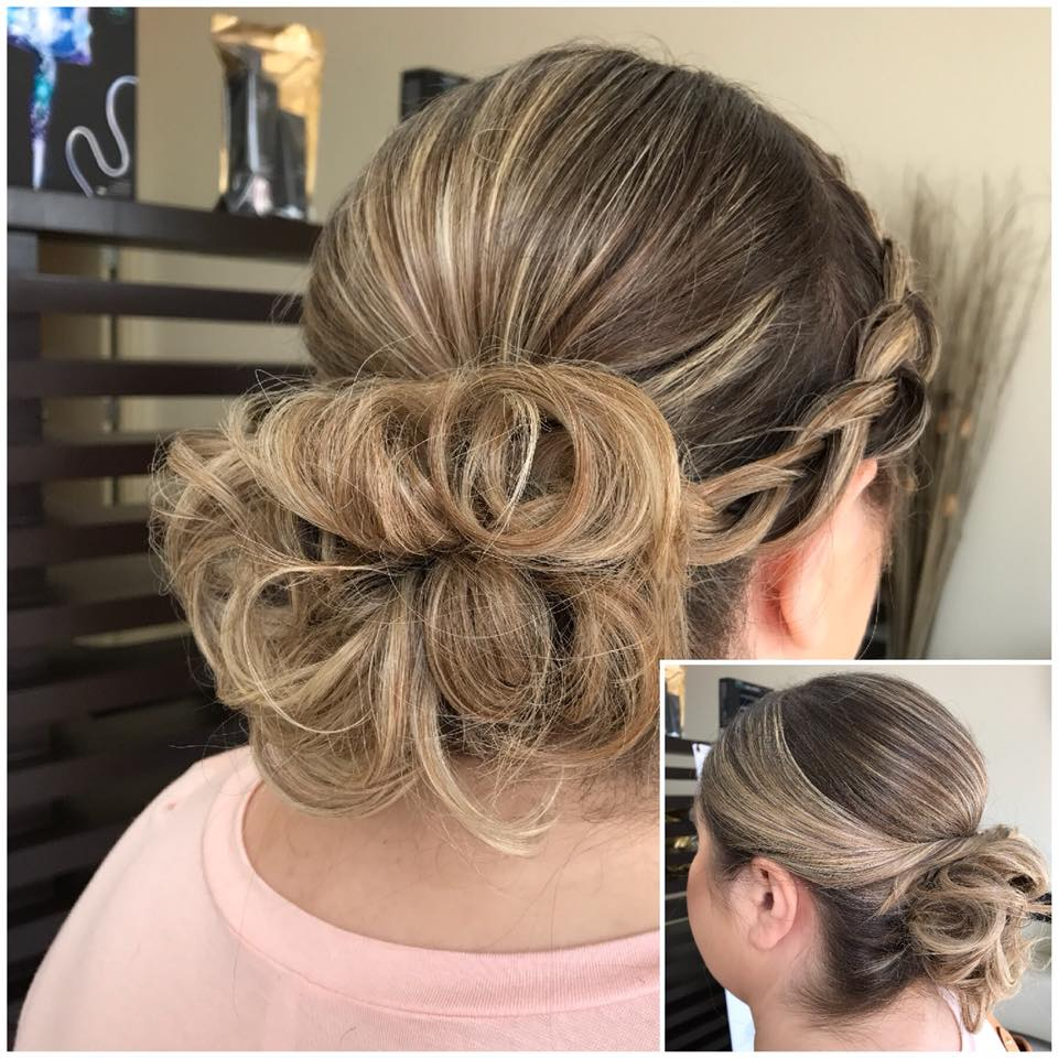 Messy Bun With Side Braids Looks Fabulous