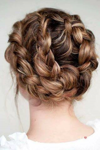 Mind-Blowing Braided Bun For Romantic Date