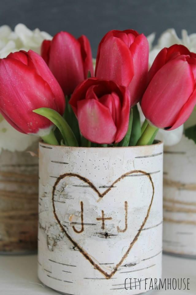 Mind-Blowing DIY Birch Bark Flower Vases