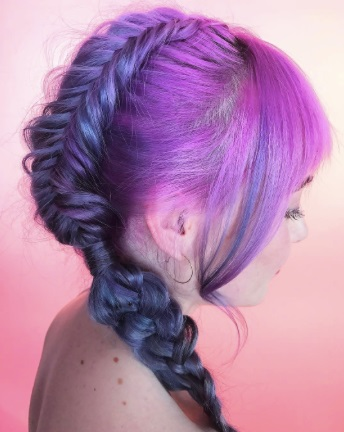 Ombre Pink Fishtail Braid For Valentine's Day