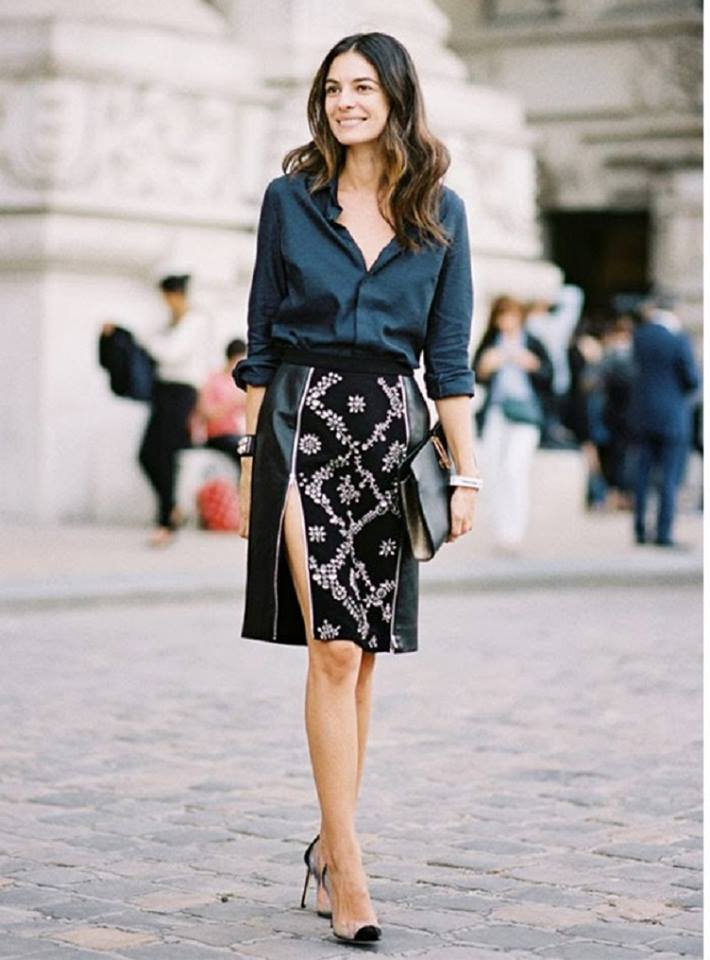 Rocking Button Down Shirt With Front Slit Skirt