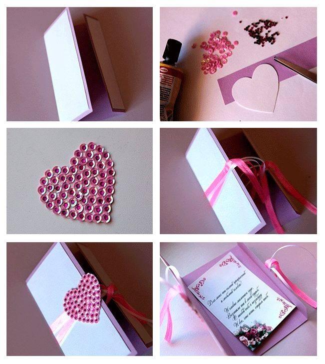 Studded Heart On Card
