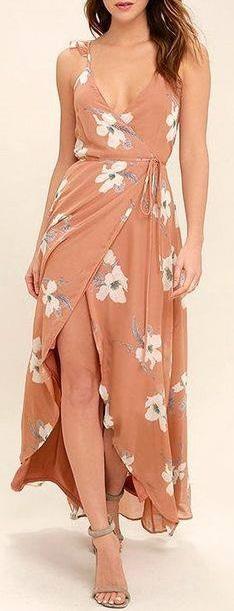 Swanky Floral Print Wrap Dress