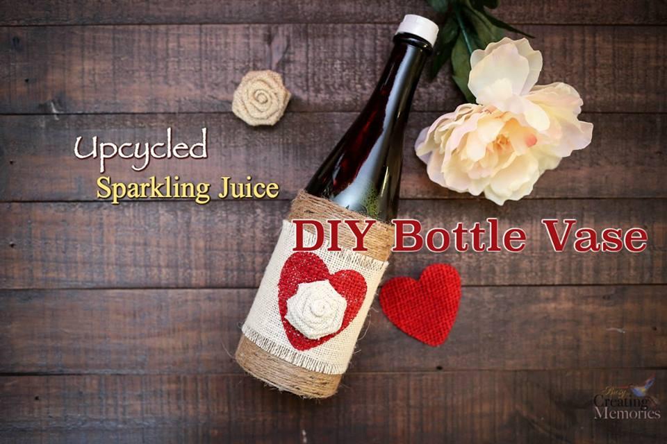 Upcycled Sparking Juice Bottle Vase