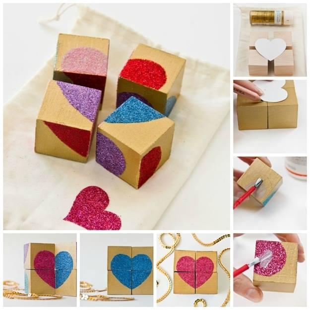 Wooden Heart Shape Blocks