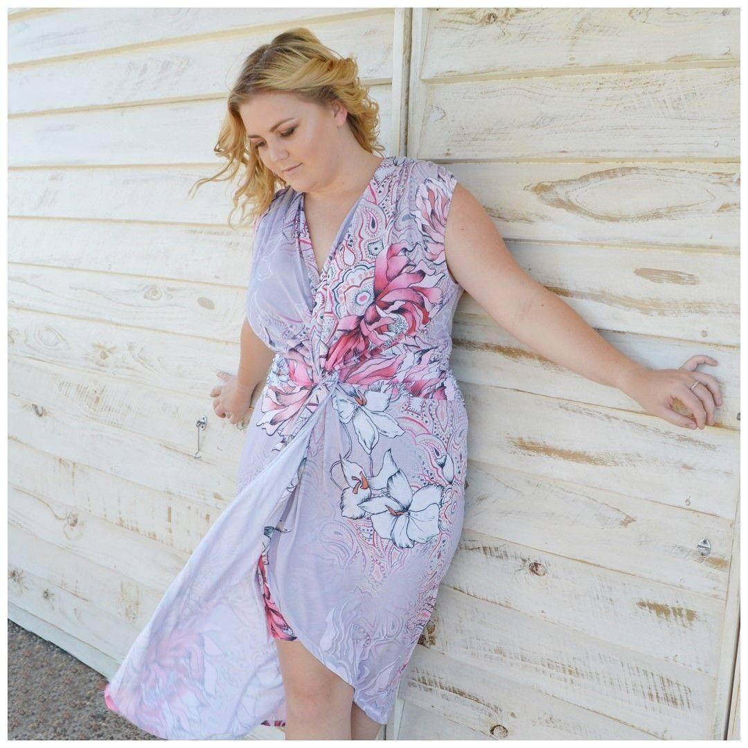 Adorable Floral Wrap Dress