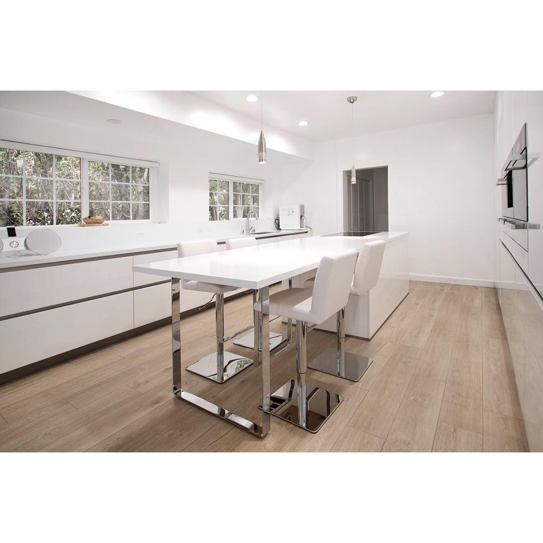 All Favourites White Kitchen With European Cabinets