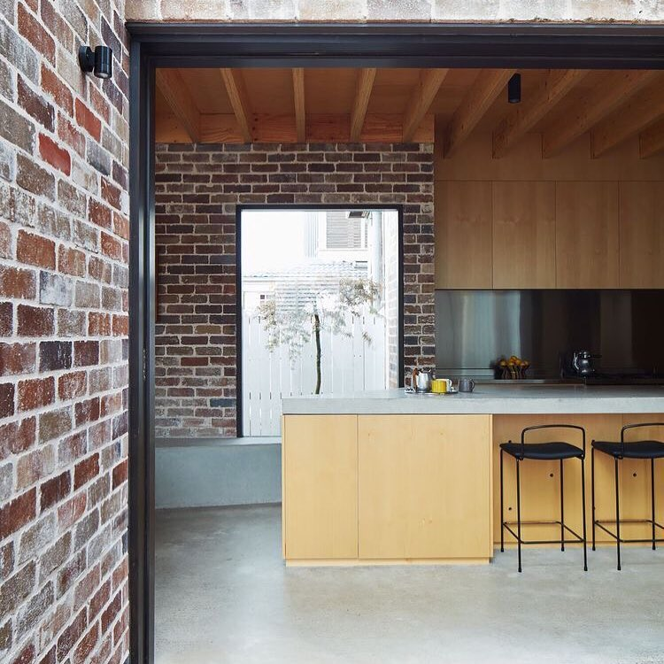Awesome Brick Tone Industrial Touch Contemporary Kitchen Design