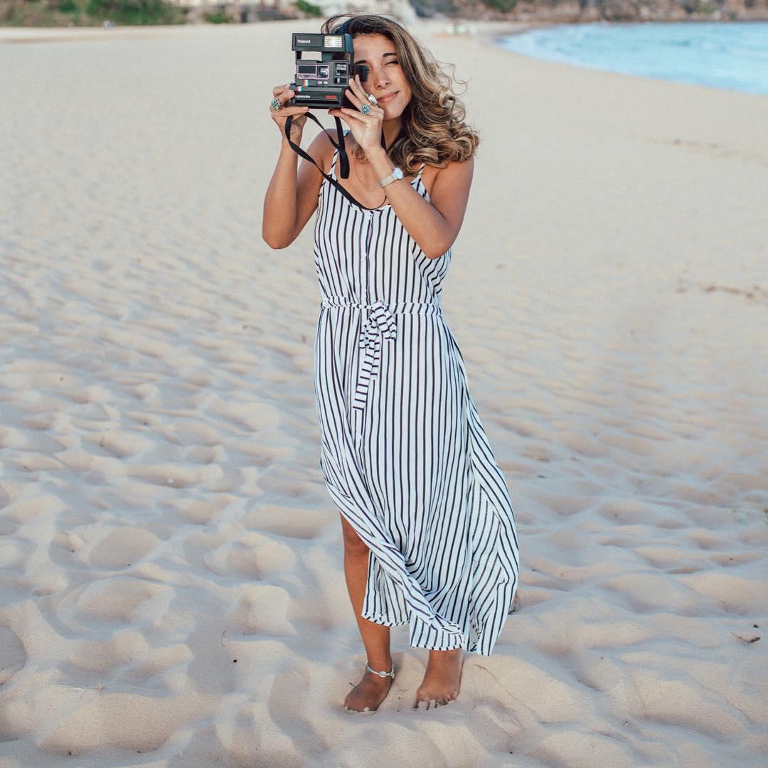 Charismatic Stripes Maxi Dress