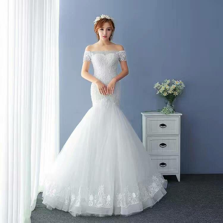 Charismatic off Shoulder Mermaid Wedding Dress