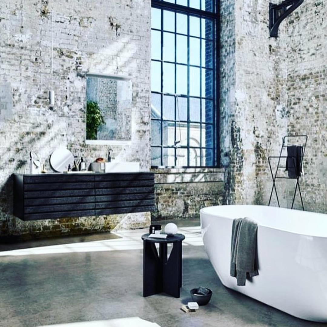 Dashing Industrial Touch Rustic Bathroom