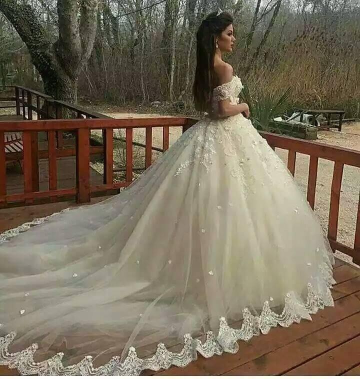 Dashing Off Shoulder Wedding Dress