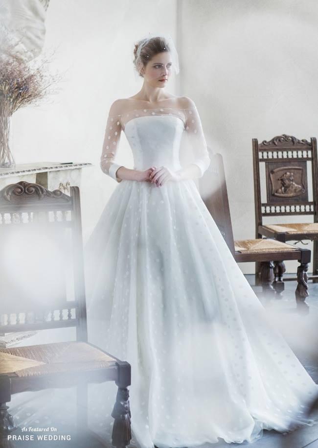 Dazzling Polka Dot Inspired Wedding Dress