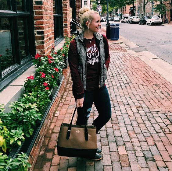 Elegant Street Wear In Fall